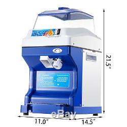 Commercial Ice Shaver Ice Shaving Machine, with Hopper, Electric Snow Cone Maker