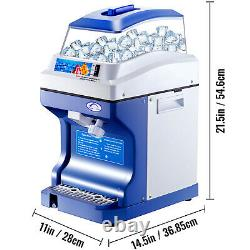 Commercial Ice Shaver Ice Shaving Machine with Hopper Electric Snow Cone Maker