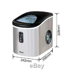 Commercial Restaurant Home Bar Ice Maker Portable Clear Cube Ice Machine 220V #S