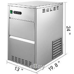 Commercial Snow Flake Ice Machine Flake Ice Maker 44LB/24H Shave Ice Machines