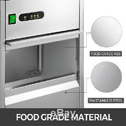 Commercial Snow Flake Ice Machine Flake Ice Maker 88LB/24H Shave Ice Machines