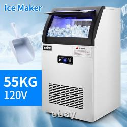 Commercial Stainless Steel Freestanding Ice Maker Cube Machine, 120/24H