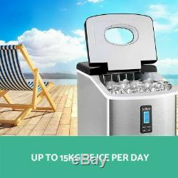 Devanti Ice Maker Machine Commercial Stainless Steel Portable Ice Cube Tray 3.2L