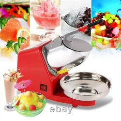 Electric Ice Crusher Smoothie Shaver Snow Cone Maker Machines Commercial 2200rpm