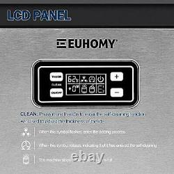 Euhomy Commercial Ice Maker Machine 100lbs/24H Stainless Steel under counter