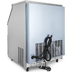 Ice Cube Maker Machine 120Kg/265Lbs Commercial 0.9Cube Auto-control 22mm Cube