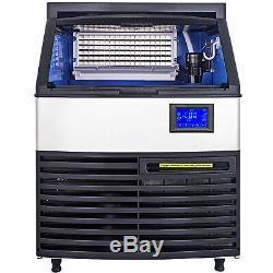 Ice Cube Maker Machine 130Kg/287Lbs Commercial Stainless Steel Timing Cleaning