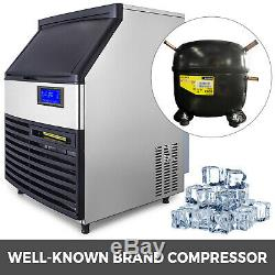 Ice Cube Maker Machine 130Kg/287Lbs Commercial Timing Cleaning Water Filter
