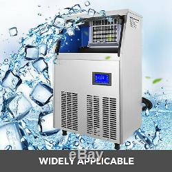 Ice Cube Maker Machine 40Kg/88Lbs Commercial Auto-control Microcomputer Cube