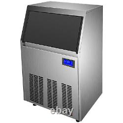 Ice Cube Maker Machine 50Kg/110Lbs Commercial 49 Ice Tray 12-18min Cycle