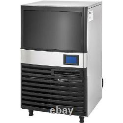 Ice Cube Maker Machine 65Kg /144Lbs Commercial Heat Insulation Stainless Steel