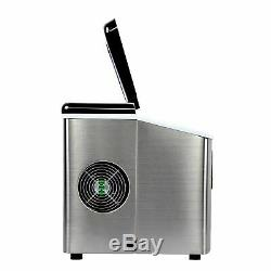 Ice Cube Maker Machine Electric Stainless Steel Commercial Table top 20kg/day