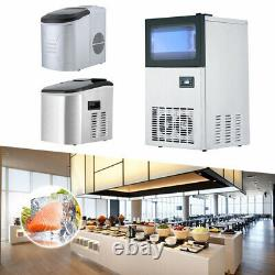 Ice Maker Commercial Stainless Steel ABS Machine Standing Ball Cube Kitchen Bar