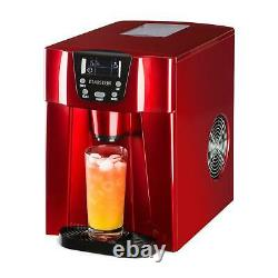 Ice Maker Machine 2 Cubes size 12 kg/ day 2 l Tank Commercial Bar Dispenser Red
