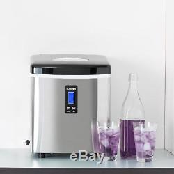 Ice Maker Machine Commercial Counter Top 150 W 15 Kg LCD Display Black Blue