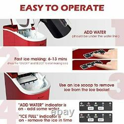 Ice Makers 2.2L Machine Countertop Commercial Home, Noise Reduction&Portable