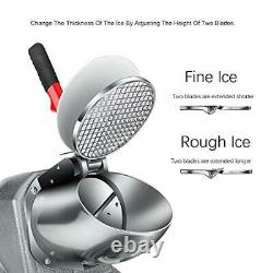 Ice Shaver, Snow Cone Machine Maker, Electric Ice Crusher Commercial Home Use with