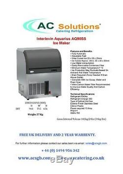 Interlevin AQ90 Commercial Ice Machine Cube Maker for Pub or Restaurant