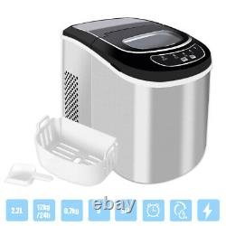 Loefme Commercial Stainless Steel Ice Cube Machine Portable Ice Maker With Scoop