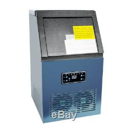 New 50KG Commercial Ice Maker Machine Auto Clean Stainless Steel 110V CA SHIP