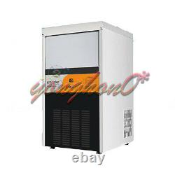 New 60KG Electric Commercial Ice Making Machine Milk Tea Ice Maker 220V Output