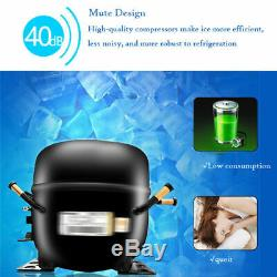 New 60Kg/Day Commercial Ice Cube Maker Machine Auto Counter Bar Stainless Steel