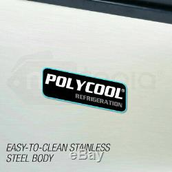 POLYCOOL Commercial Ice Cube Maker Machine Stainless Steel 45-65kg/Day