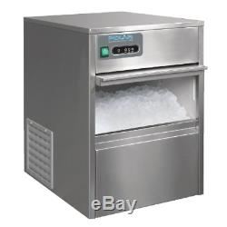 Polar Under Counter Ice Cube Maker Machine Commercial Stainless Steel 20kg/24hr