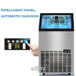 Portable Commercial Ice Cube Maker Machine Auto Counter Bar Icemaker 60Kg/Day UK