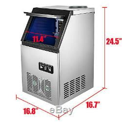 Portable Commercial Ice Maker Machine Stainless Steel Cube for 5 Gallon Bottle