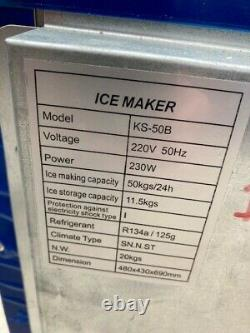 Professional Electric Ice Cube Maker Machine Desktop Cubes Ice Making Commercial