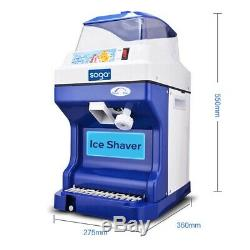 SOGA 2x Ice Shaver Commercial Electric Stainless Steel Crusher Slicer Machine