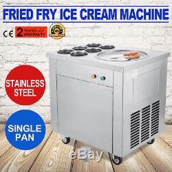 Single Pan Fried Ice Cream Machine 6 Buckets Ice Cream Roll Maker Commercial