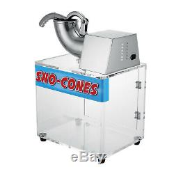 Snow Cone Machine Ice Blast Maker Shaved Commercial Crusher Concession Stainless
