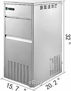 Snow Flake Ice Machine 450W Commercial Flake Ice Maker 33 LB Ice Storage Scoop