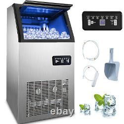 Stainless Steel Commercial 110Lbs Undercounter Ice Maker Machine Air Cooled Cube