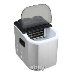 Stainless Steel Ice Maker Commercial Machine Counter Top Cubes 220W Portable New