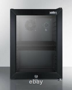 Summit Appliance SCR114L Compact Commercial Beverage Center Cabinet Black