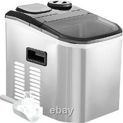 VEVOR Commercial Ice Cube Maker Machine Countertop 40lbs withAuto Water Dispense