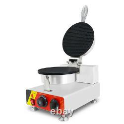 WOO Commercial Electric Ice Cream Waffle Cone Maker Egg Roll Bowl Machine 220V