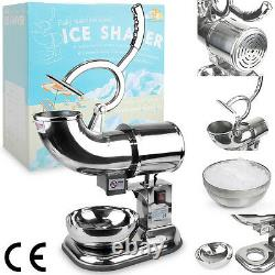 WYZworks 440lb/h Stainless Steel Commercial Ice Shaver Crusher Shaved Icee Maker