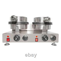 Waffle Cone Maker Commercial Ice Cream Cone Maker Manual Control Double