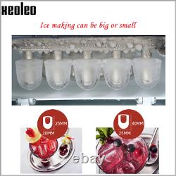 Xeoleo Commercial Ice Maker About 12Kg/24H Ice Machine Bullet Type Ice Make Mach